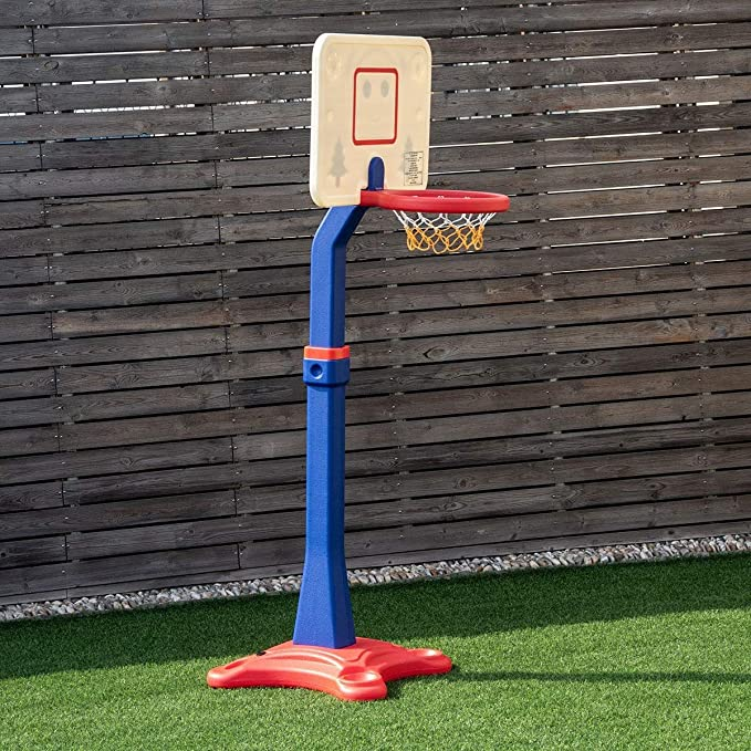 Basketball Hoop Stand Adjustable Height With Stand In//Outdoors Kid Toy Portable