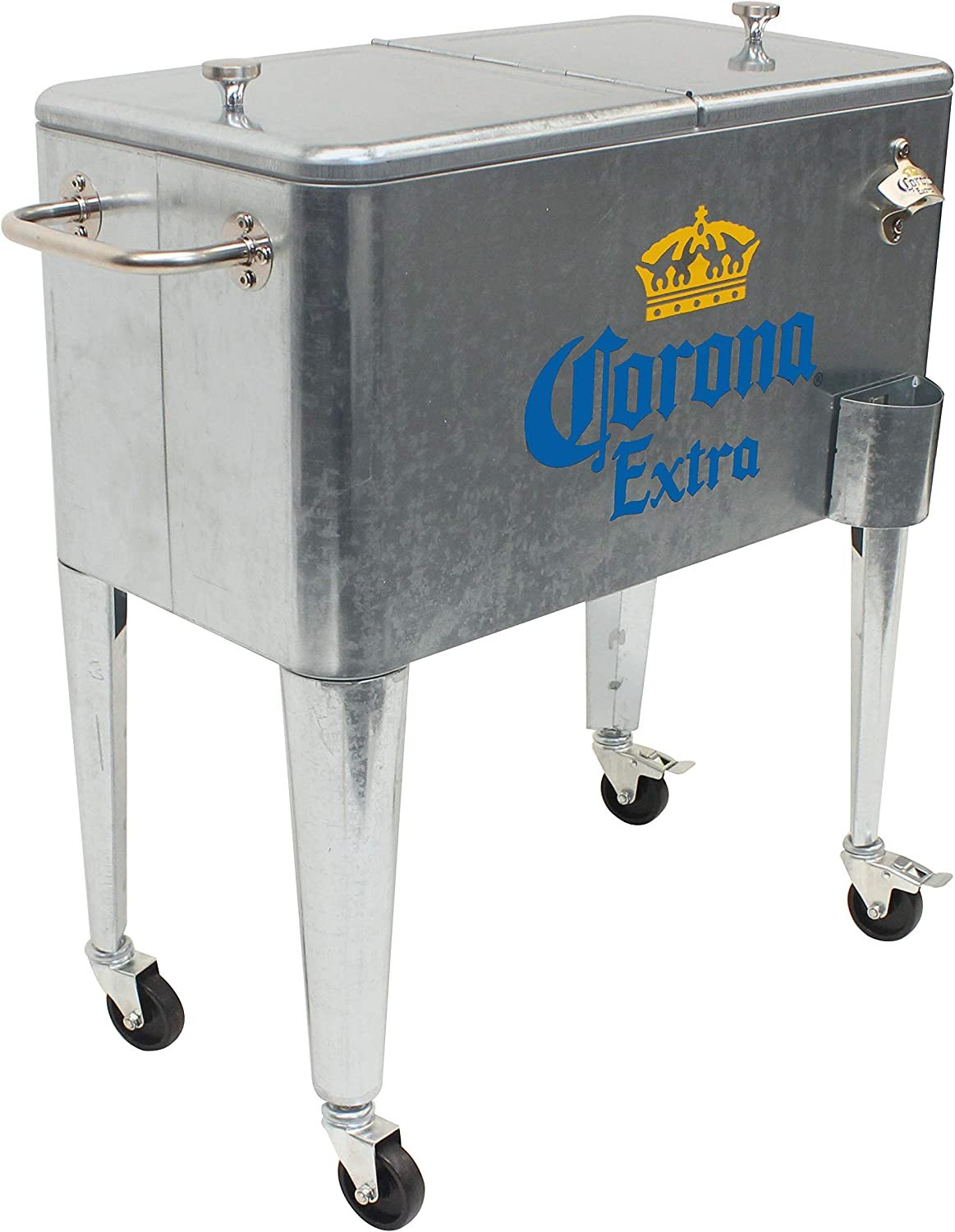 Silver Leigh Country MC 47900 Galvanized Steel 60 Qt Corona Rolling Cooler