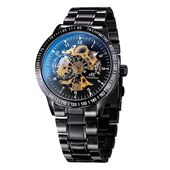Treweto Reloj mecánico automático para Hombre, Acero ...