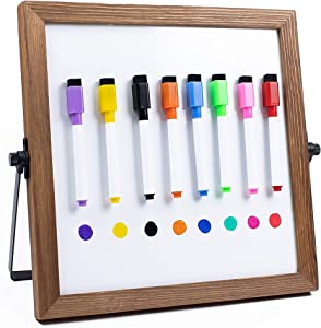 Desktop Dry Erase Board Personal Whiteboard with Stand! 11 x 11