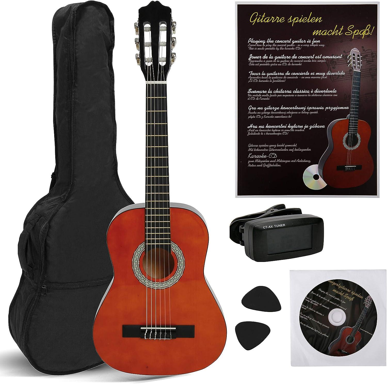 NAVARRA NV13PK Guitarra acustica STARTER PACK 3/4 honey con bordes ...