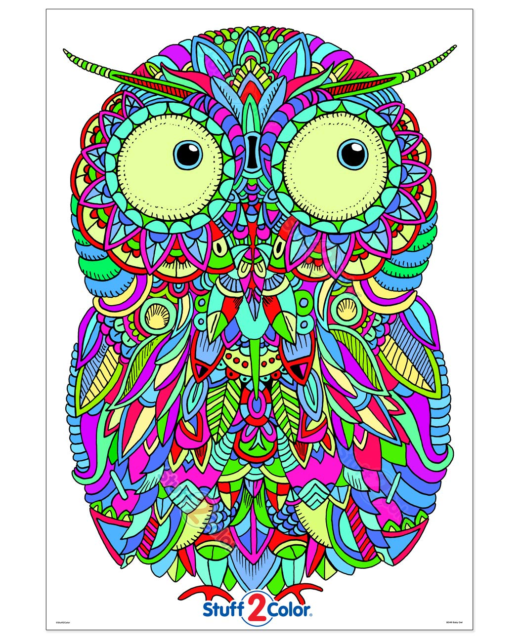 Baby Owl - Giant Coloring Poster - 32.5\