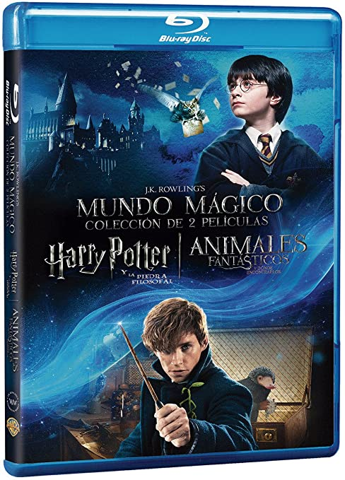 Dúo Harry Potter 1 + Animáles Fantásticos Blu Ray Blu-ray: Amazon ...
