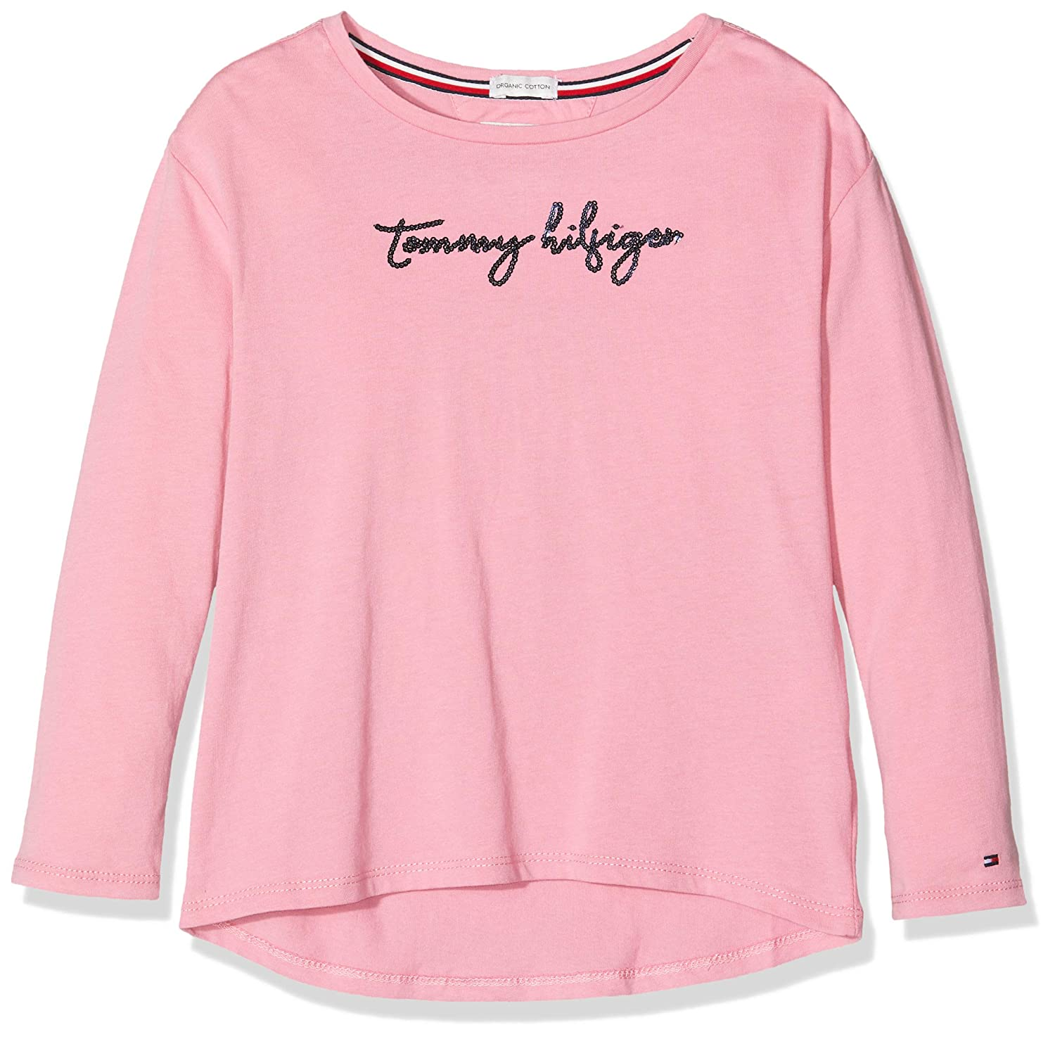 Tommy Hilfiger Girls Sequins Graphic Tee L//S Long Sleeve Top