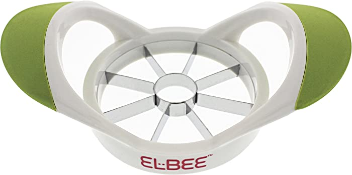 Elbee Apple Corer - Comfortable Grip Apple Slicer - Quality Stainless Steel Blade Makes 8 Slices