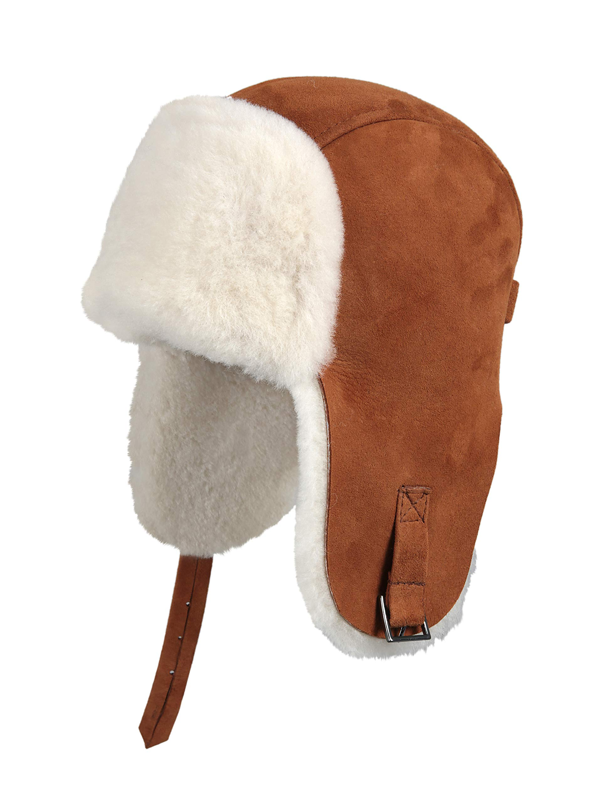 29814378829 Zavelio Unisex Shearling Sheepskin Winter Fur Beanie Hat · Zavelio Men s Shearling  Sheepskin Pilot Hat