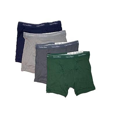 Calvin Klein Men's Underwear Cotton Stretch 4 Pack Boxer Briefs at Men's Clothing store