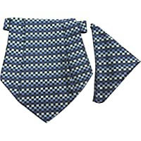 Classique Enterprises Men's Cravat with Pocket Square (Blue)