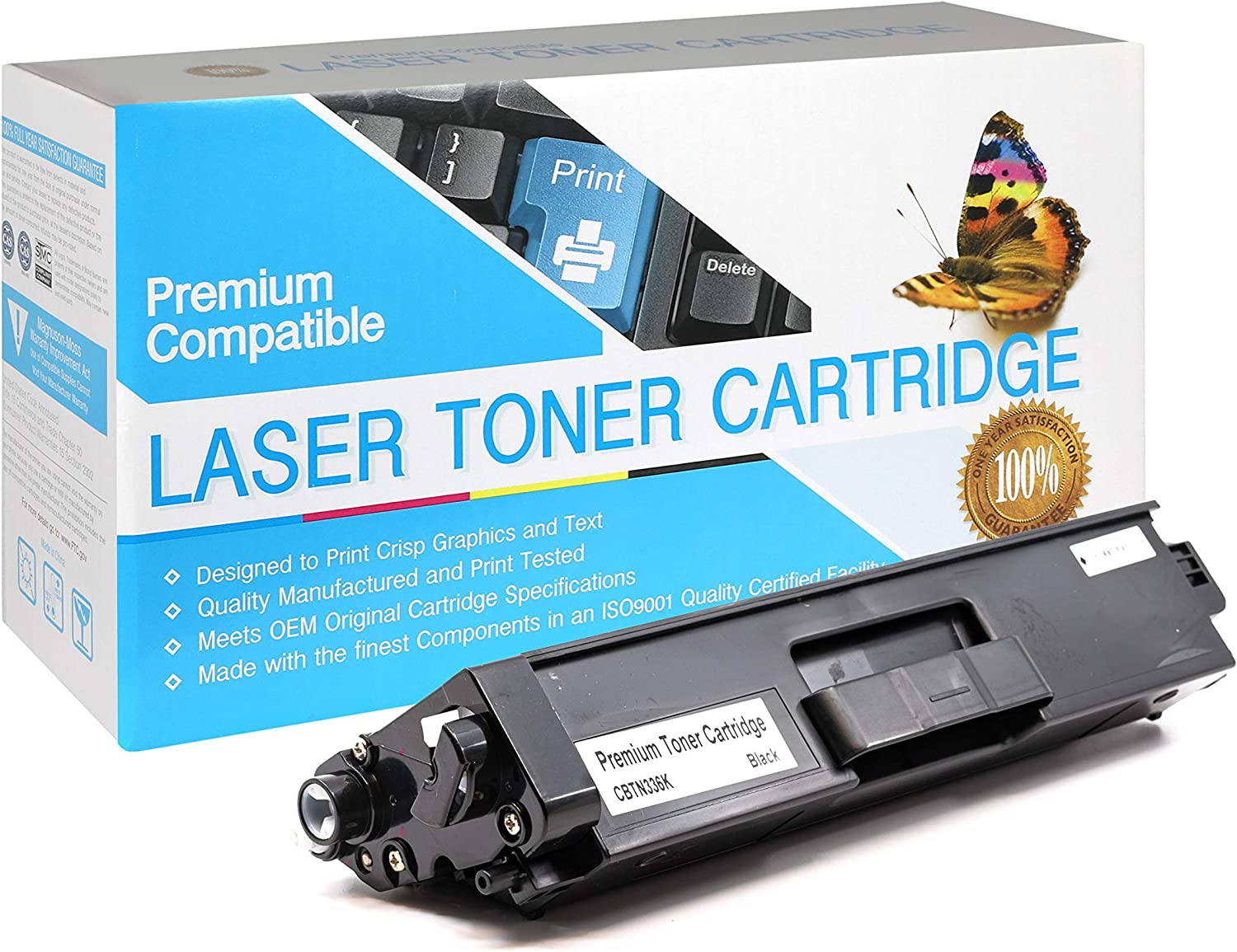 Black,1 Pack SuppliesOutlet Compatible Toner Cartridge Replacement for Brother TN331BK TN336BK