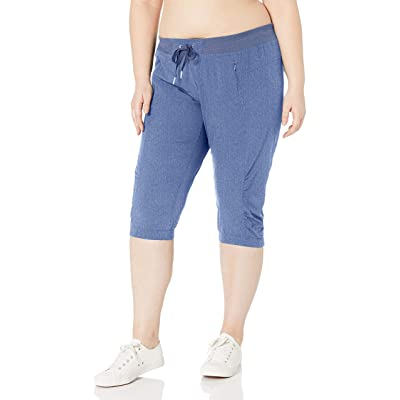 Calvin Klein Performance Women's Plus Size Stretch Woven Capri at Women's Clothing store