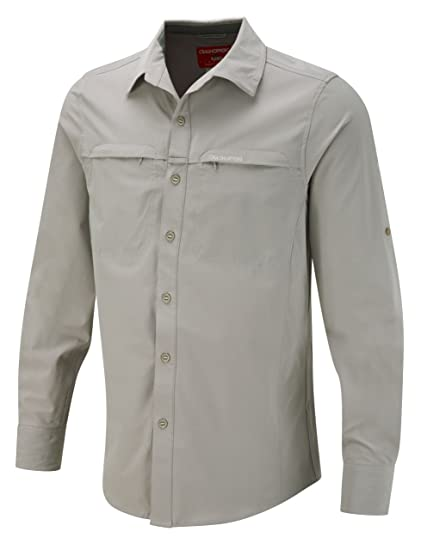 Amazon.com   Craghoppers Men s Nosilife Stretch Long Sleeve Shirt ... 926e1ba0d0c7