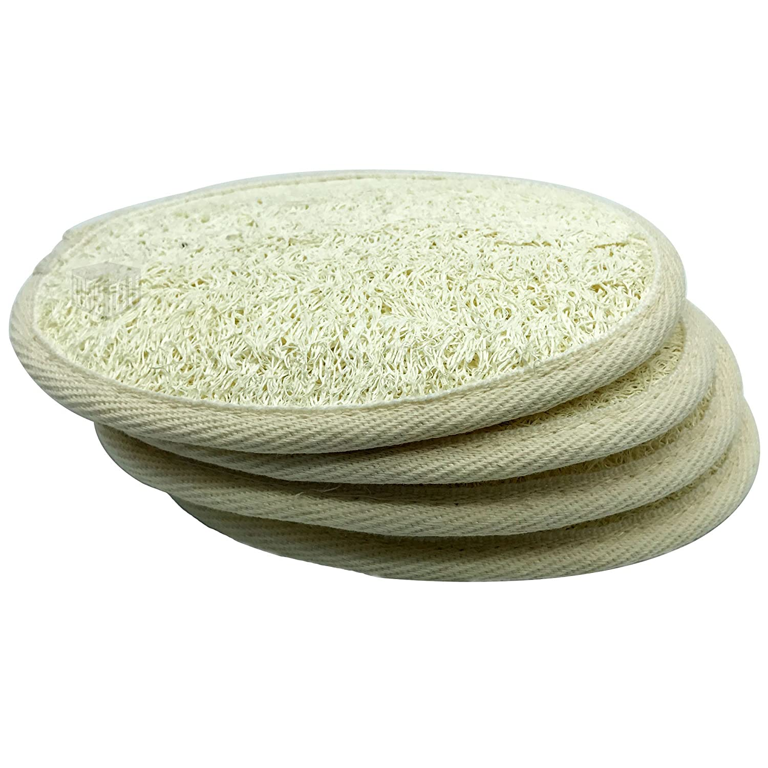 MAYMII·HOME 100% NATURE 6 Pack of (approx 4-5 length) Organic Loofahs Loofah Spa Exfoliating Scrubber natural Luffa Body Wash Sponge Remove Dead Skin Made Soap