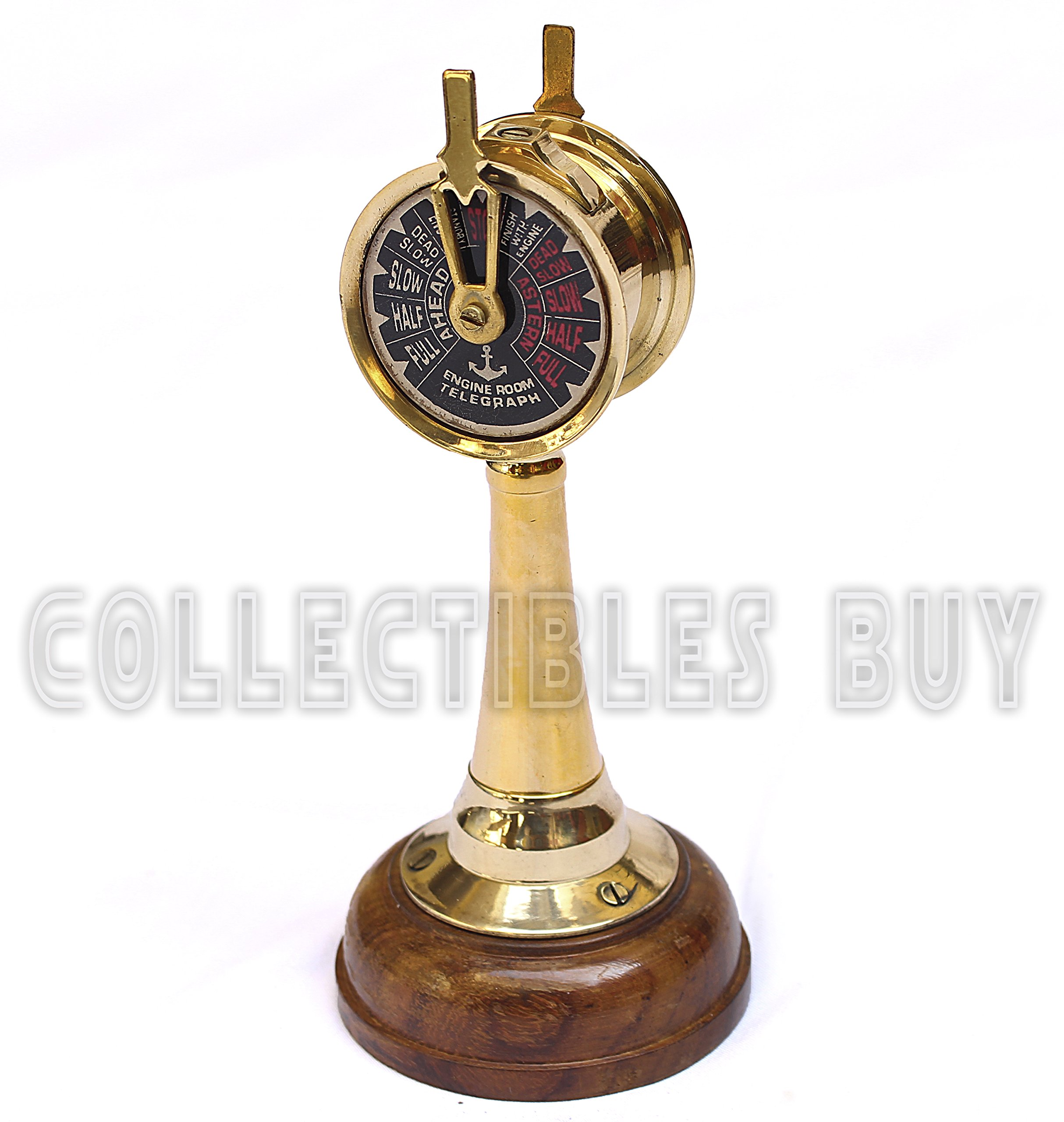 Royal Mini Nautical Brass Handmade Telegraph Vintage Maritime telescopes Collectible Item … (Wooden)