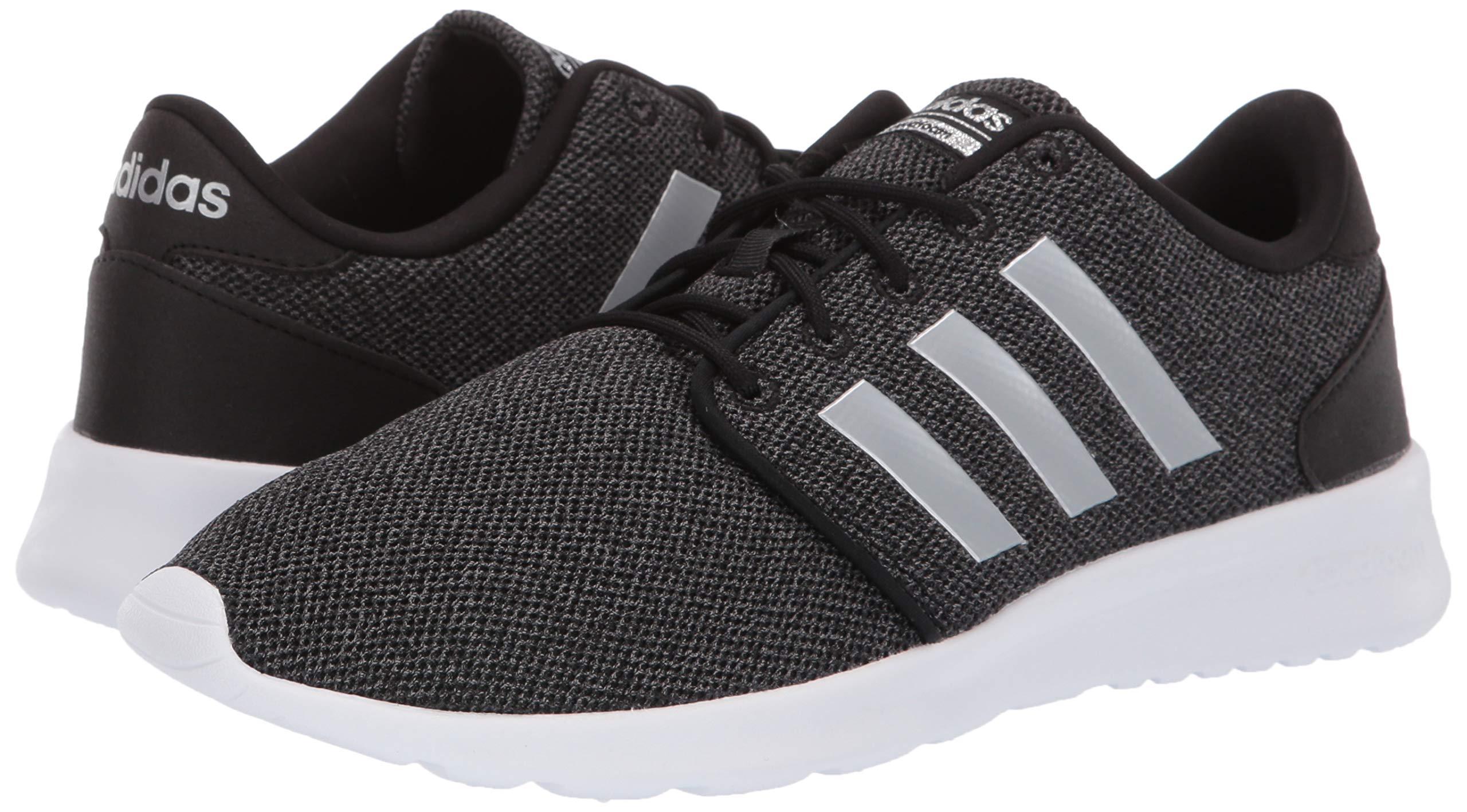 adidas Women's Cloudfoam Qt Racer Sneaker, Black/Silver Metallic/Grey, 5.5 M US by adidas (Image #5)