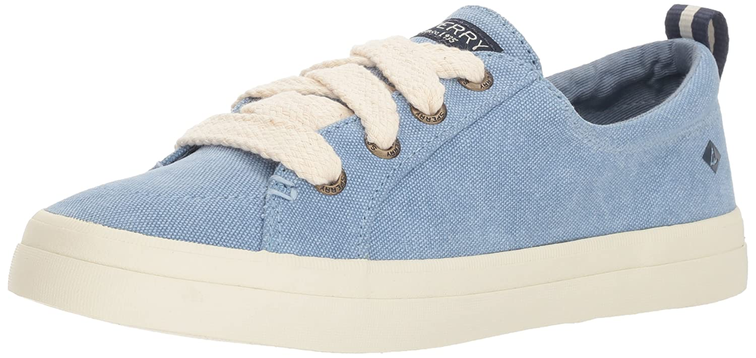 Sperry Top-Sider Women's Crest Vibe Chubby Lace Sneaker B078SG5SMX 6.5 M US|Dusty Blue
