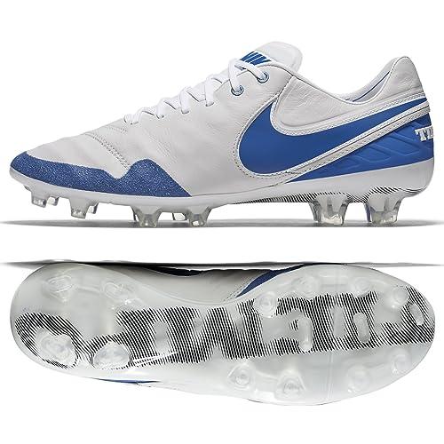 8dcc7c178 Nike Tiempo Legend VI SE FG 835364-141 White Blue Men s Soccer Cleats (