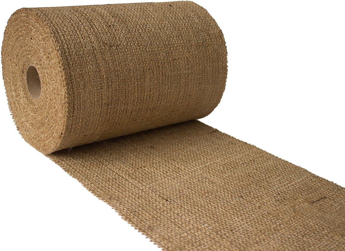 Burlapper 8 x 10 Yards 10 oz Jute Burlap Ribbon Roll