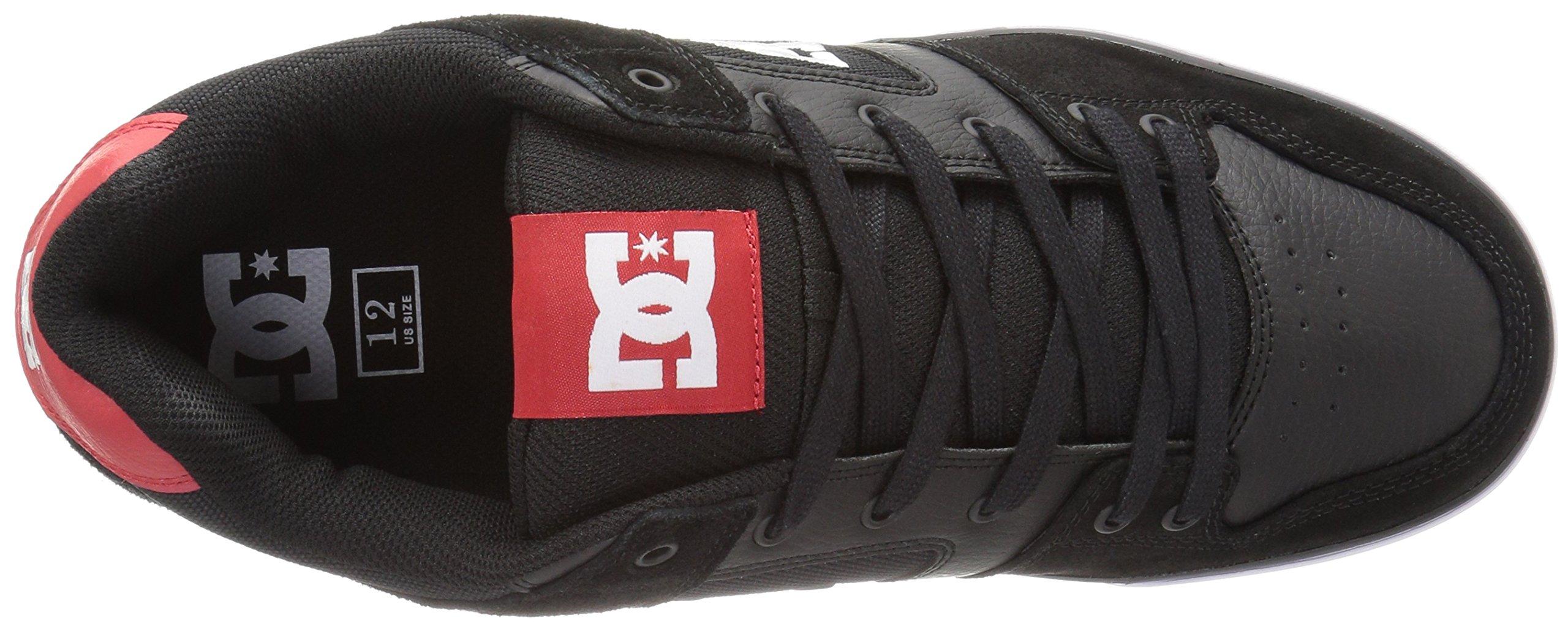 DC Shoes Mens Shoes Pure - Shoes - Men - 9.5 - Black Black/Athletic Red 9.5 by DC (Image #8)