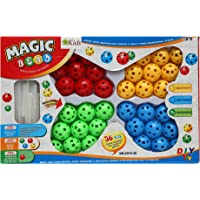 Star Kids Plugging Magic Beads Intelligence Building Toy (Multi Color)