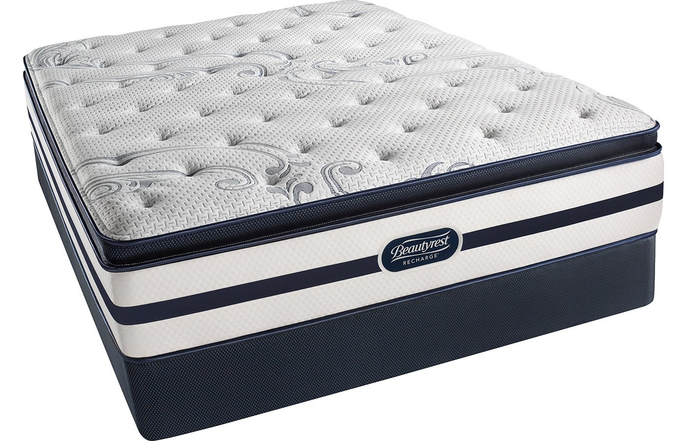 Beautyrest Recharge Simmons Plush Pillow Top King Mattress Pocketed Coil Gel Memory Foam