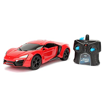 Jada Toys Fast & Furious Lykan Hypersport- Ready to Run RC/Radio Control Toy Vehicle Car, Red, 1: 16 Scale: Toys & Games