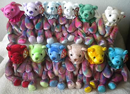 Amazon.com  TY   BIRTHDAY BEANIE BEARS   COMPLETE SET- ALL 12 ... 42a47418bf1
