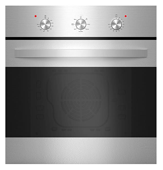"Empava 24"" Stainless Steel 6 Cooking Functions Electric Built-in Convection Single Wall Oven EMPV-B14LTL"