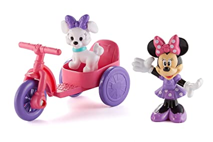amazon com fisher price minnie mouse minnie and daisy vehicle pack