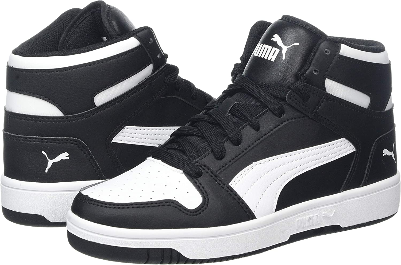 Bambini PUMA Rebound Layup SL Jr Sneaker a Collo Alto Unisex