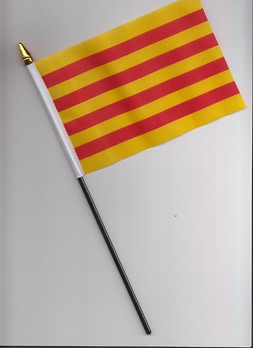 España Cataluña bandera de la mano 25 cm: Amazon.es: Hogar