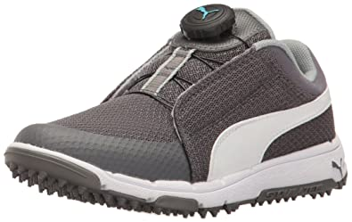 Puma Golf Grip Sport JR. DISC Golf Shoe Quiet Shade-Puma White-Bluefish 5fd2d0c36