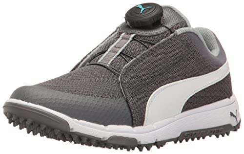 9364e9dac2c0c PUMA Golf Unisex-Kids Grip Sport Jr. Disc Golf Shoe, Quiet Shade ...