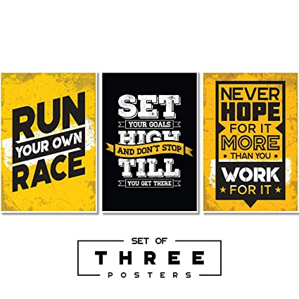 Fatmug Motivational Posters For Study Room And Office Decor   Large Size    Set Of 3