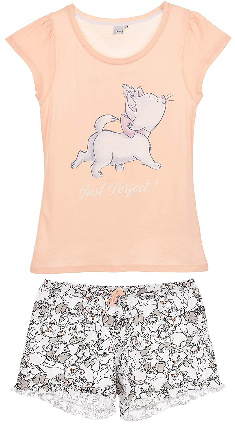 The Aristocats Damen Kurz Pyjama Schlafanzug