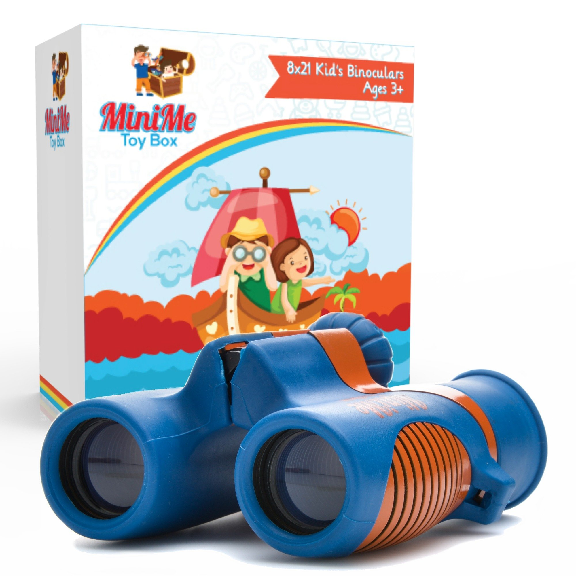 Kids Binoculars Best for Bird Watching, Outdoor Learning, Backyard Safari, and Camping - Shock Resistant 8x21 Magnification - Lightweight, Compact and Easy to Focus, Great Toys for Girls and Boys