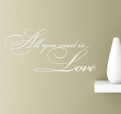 Amazon.com: Letters Wall Decor Stickers All You Need is.Love Wall ...