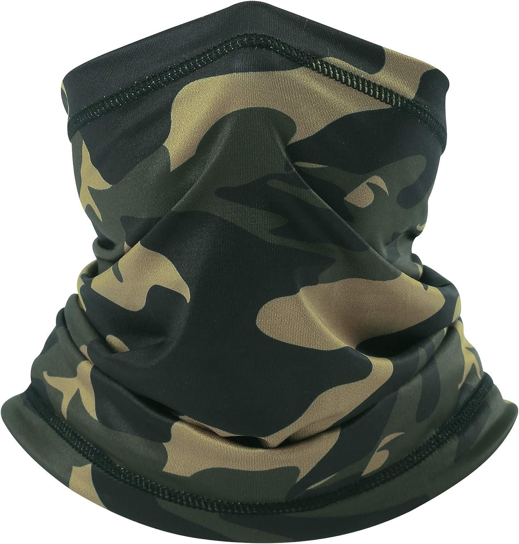 Cooling Camo Bandana Face Mask - Seamless Face Shield Sun UV Protection Neck Cover Face Scarf