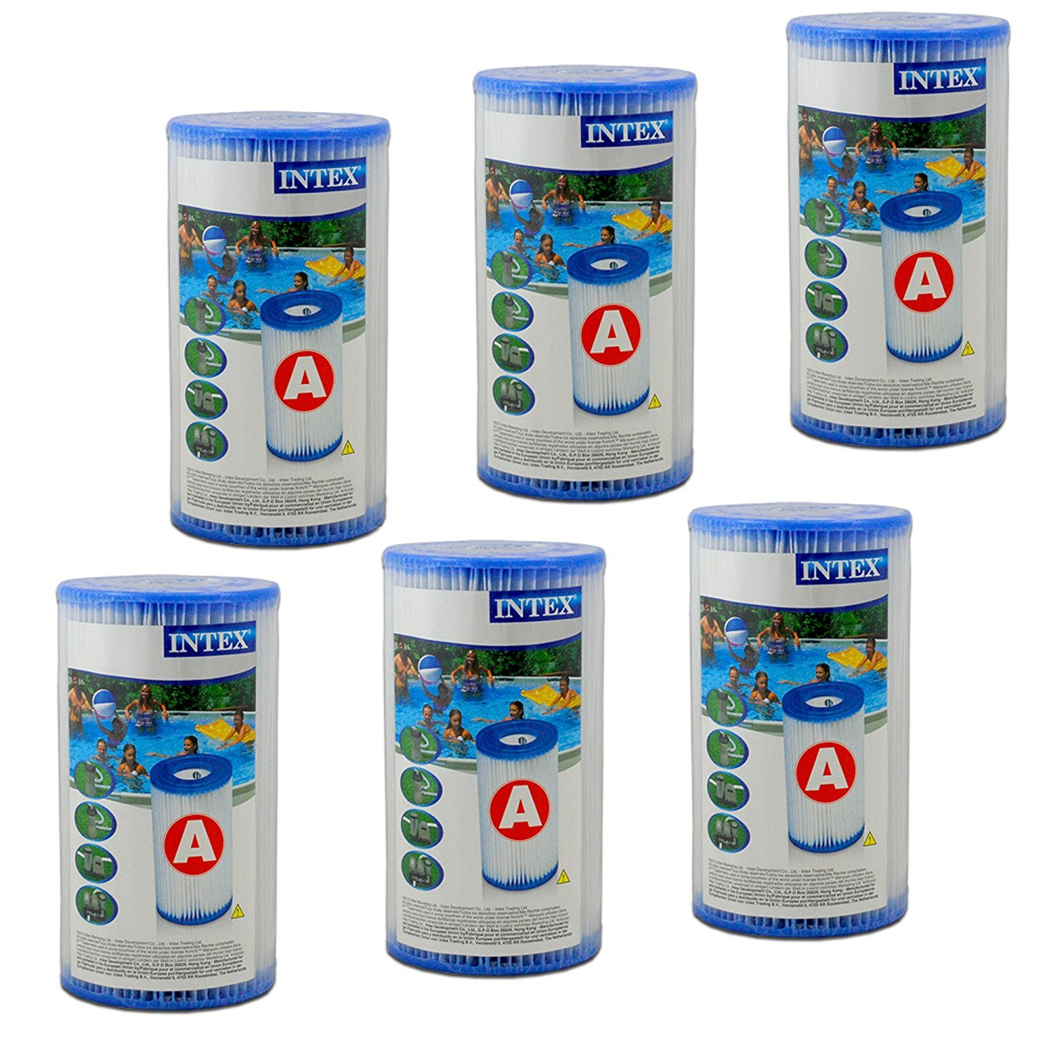 Intex 6 Filter Cartridges - Type A 29000box
