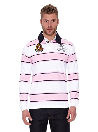 Clk Polo Long Sleeves Rosa/Blanco/Marino L: Amazon.es: Ropa y ...
