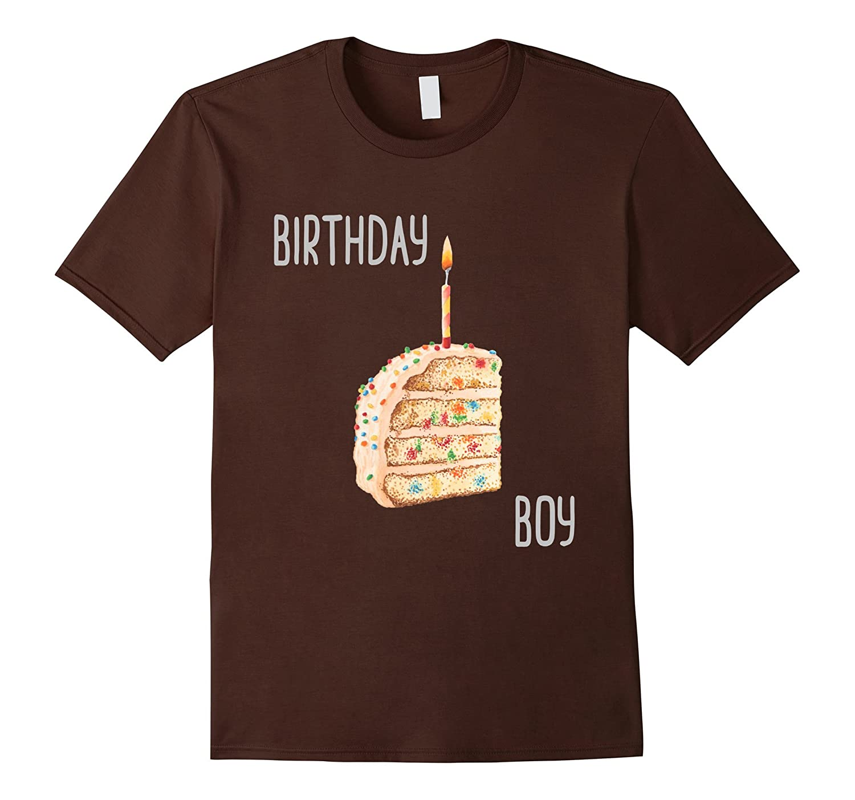 Birthday Boy Fun Watercolor Birthday Cake Tee-FL