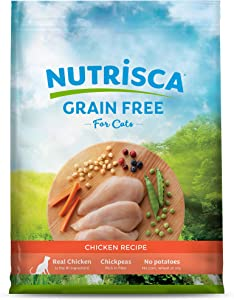 Dogswell NUTRISCA Premium Grain Free Dry Cat Food, Chicken Recipe, 13 lbs.