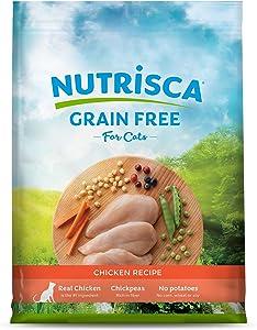 NUTRISCA Premium Grain Free Dry Cat Food, Chicken Recipe