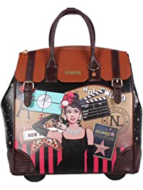 Nicole Lee Women s Exclusive Hollywood Print Rolling Business Tote d92eba9e2c204