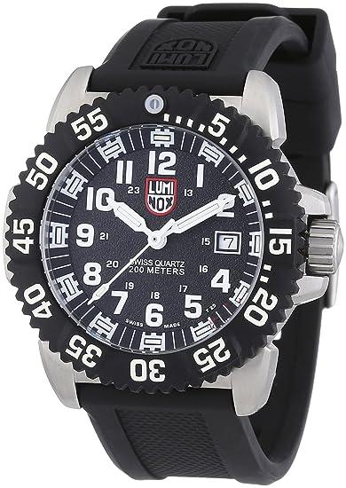 Luminox 3151 - Reloj de caballero de cuarzo, correa de caucho color negro: Luminox: Amazon.es: Relojes