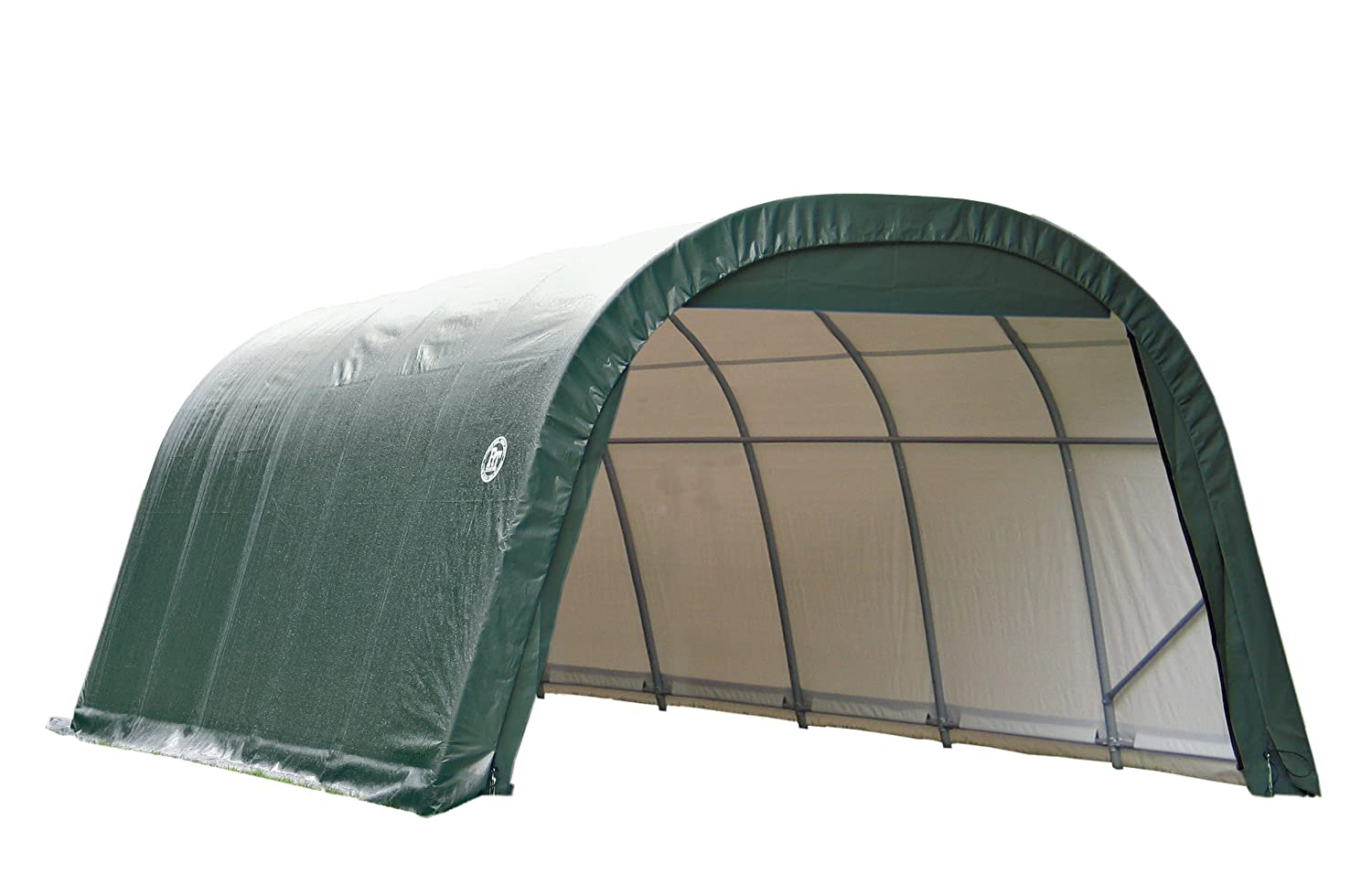 Exceptionnel Amazon.com : ShelterLogic 12 Ft.W Round Style Instant Garage   24ft.L X  12ft.W X 8ft.H, 1 5/8in. Frame, Green, Model# 72342 : Sun Shelters : Garden  U0026 ...