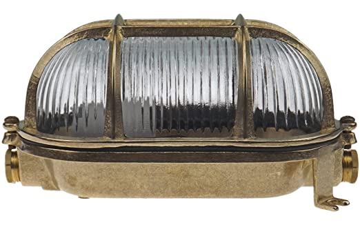 Navi applique dextérieur hublot lampe ovale en laiton applique