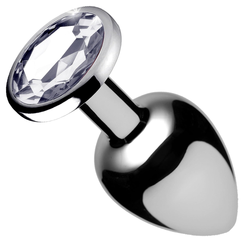 Tapón Tapón Tapón anal de gemas transparentes, tamaño mediano f6b0e6