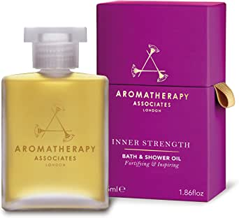 Aromatherapy Associates Inner Strength Bath And Shower Oil 1.86Floz, created by our founder to help with life's 'out of the blue' moments. Hand-blended fusion of Clary Sage, Sandalwood and Geranium.