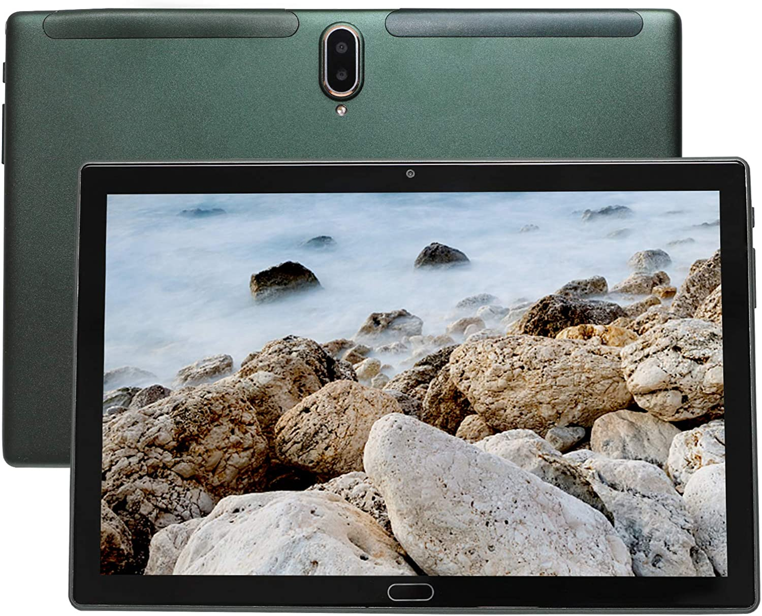 Tablet 10 inch, 4G LTE UCSUOKU Android 10 Tablet PC, 4GB RAM 64GB ROM Deca Core Processor, HD Touchscreen, 5MP + 8MP Camera GPS WiFi Bluetooth 5.0 Type-c TF Card All Metal (Green)