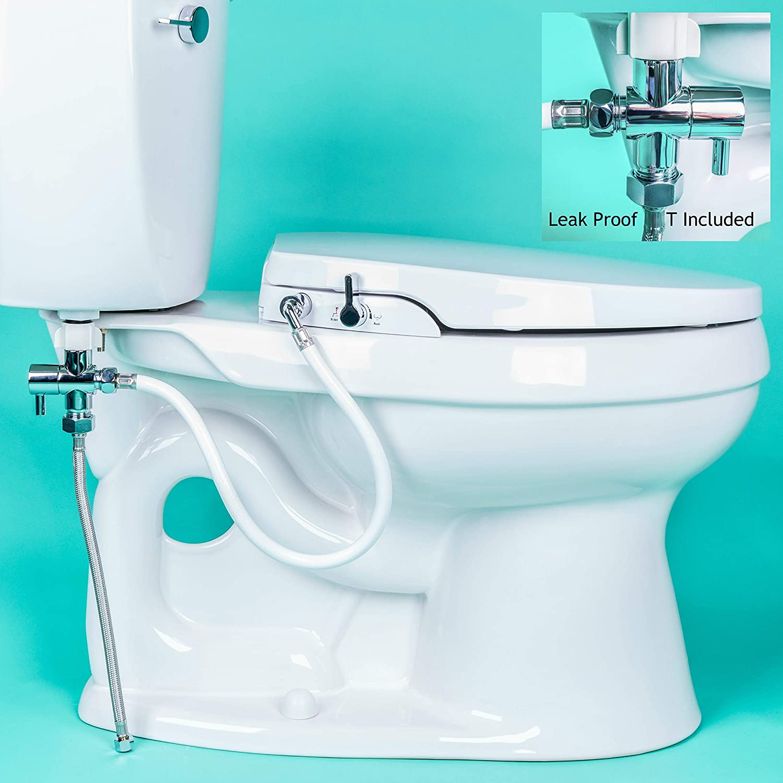 GenieBidet Seat - Self Cleaning Dual Nozzles. Rear & Feminine ...